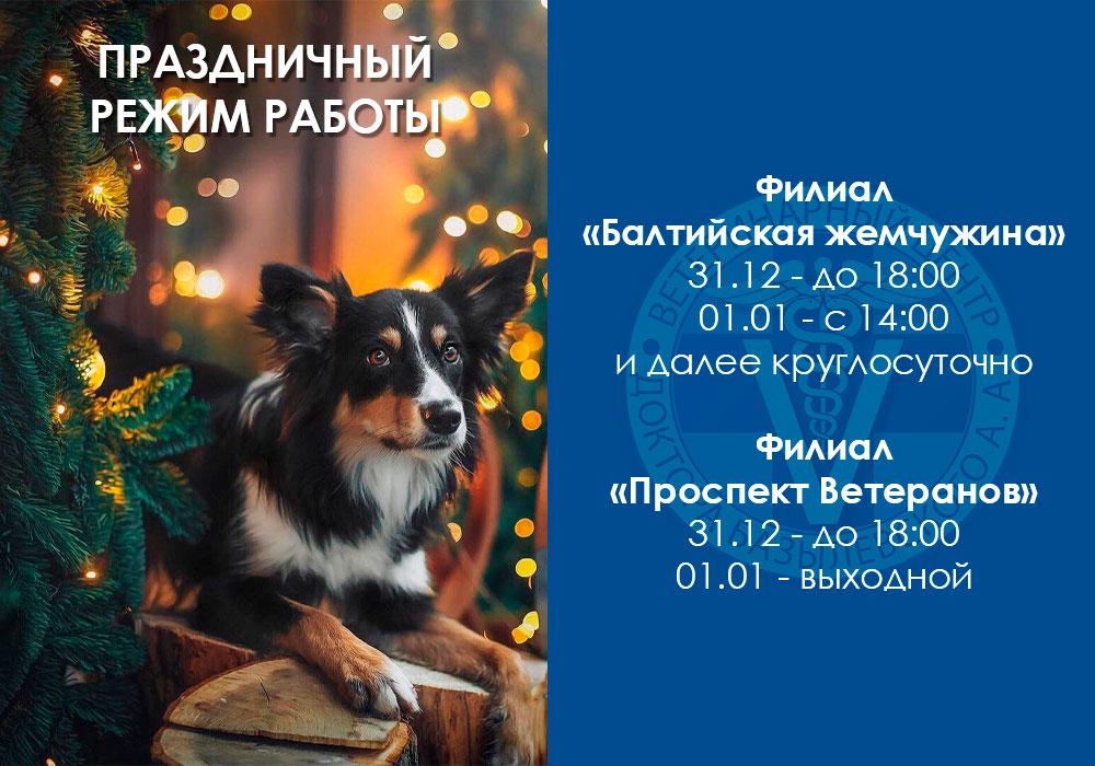 Праздничный режим работы Санкт-Петербург
